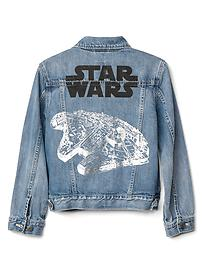 GapKids &#124 Star Wars&#153 denim jacket - medium wash